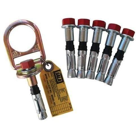 Ancrage pour le béton à anneau en D DBI-SALA® 3M<sup>MC</sup>, avec 5 boulons supplémentaires, argent, 14,4 cm x 7,6 cm x 11 cm (5,7 po x 3 po x 4,4 po)