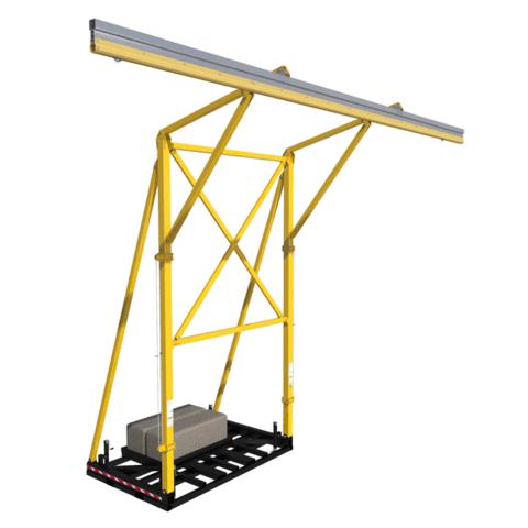 Dispositif à contrepoids FlexiGuardMC avec un rail de 12.8m (42 pi)