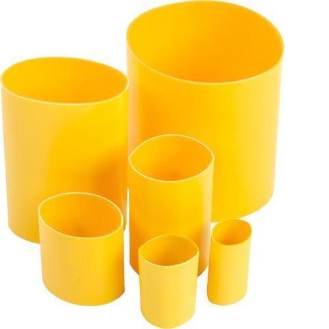Manchon rétractable à la chaleur DBI-SALA® 3M<sup>MC</sup>, jaune, 5 cm x 10 cm (2 po x 4 po), paquet de 10