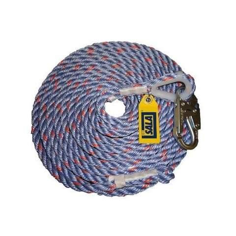DBI Sala Ligne de vie de type corde avec mousqueton 91 m (300 pi)