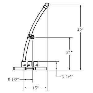 Ensemble début/fin courbé galvanisé - Architectural Series